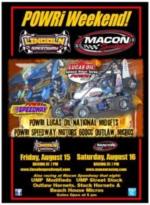 POWRi Series this weekend!