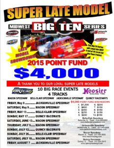 Late Model Big 10 Schedule