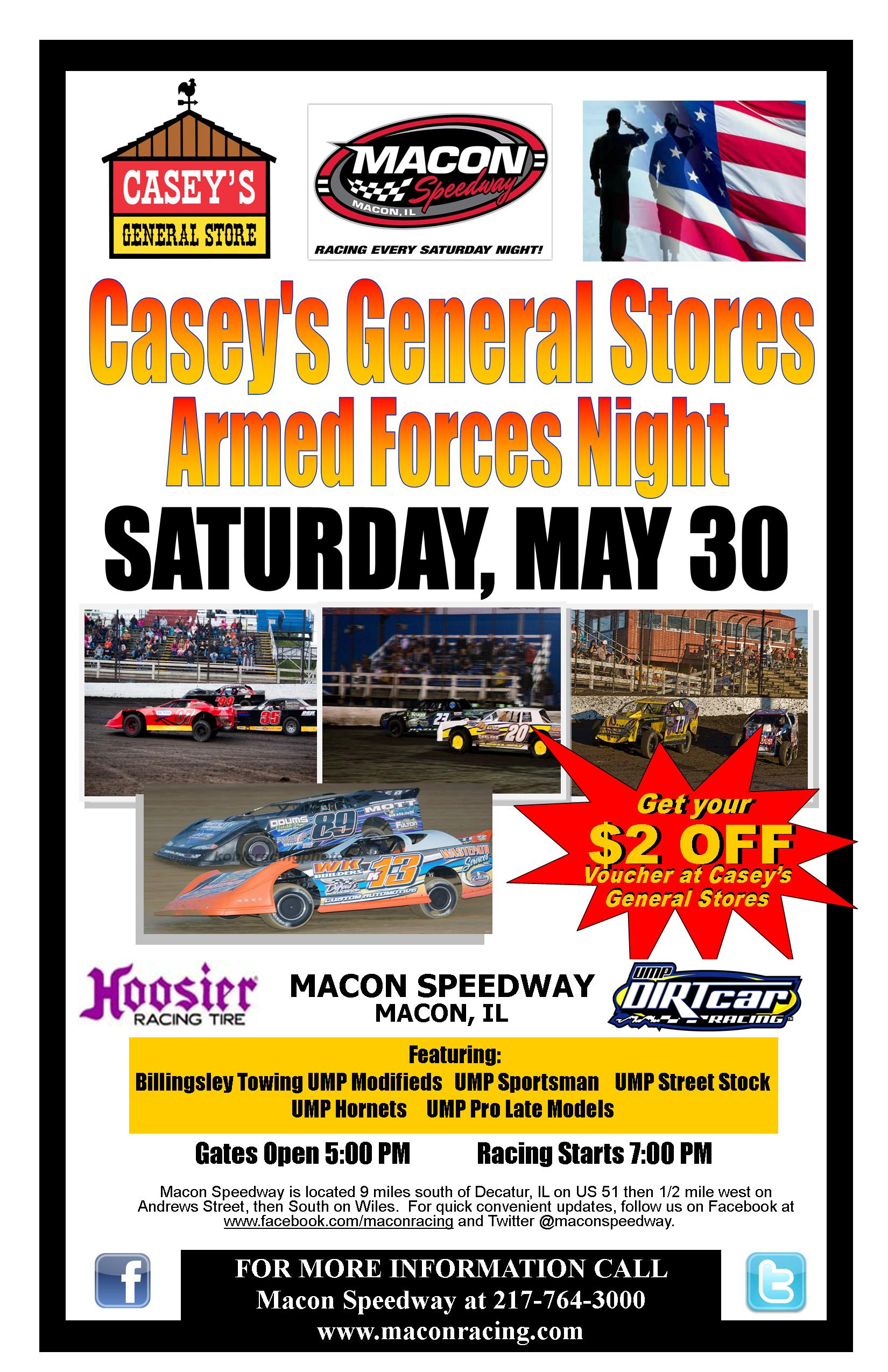 Casey's/Armed Forces Night