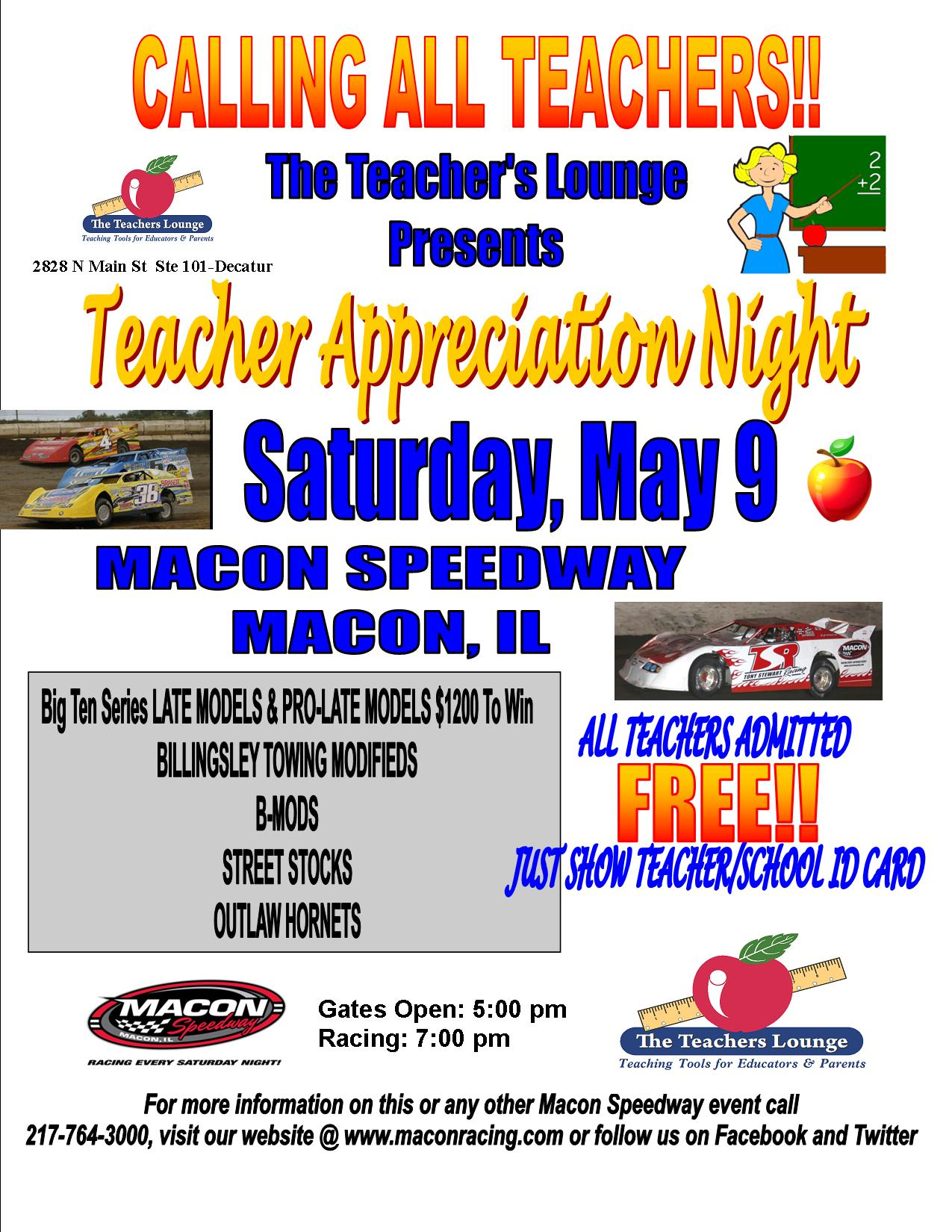 Teacher's Appreciation Night