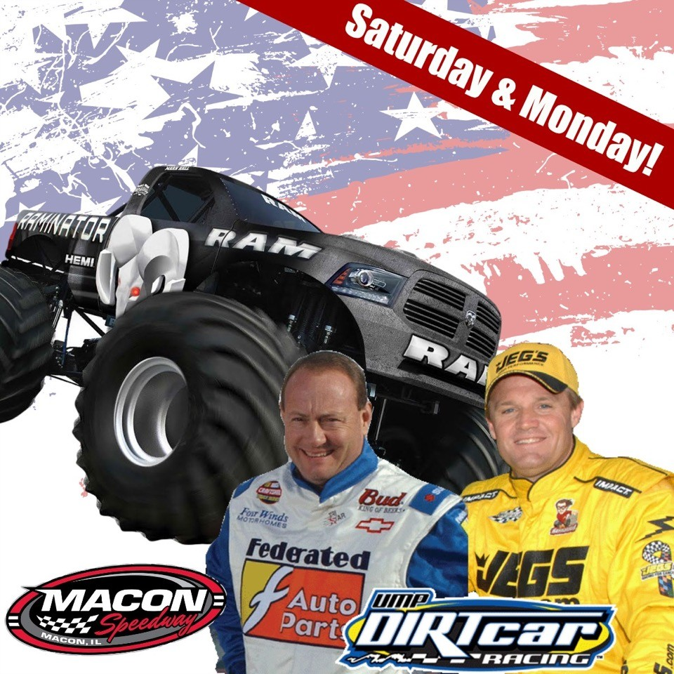 Memorial Day Weekend Satuday May 28 Raminator – Monday May 30 Kenny Wallace & Kenny Schrader