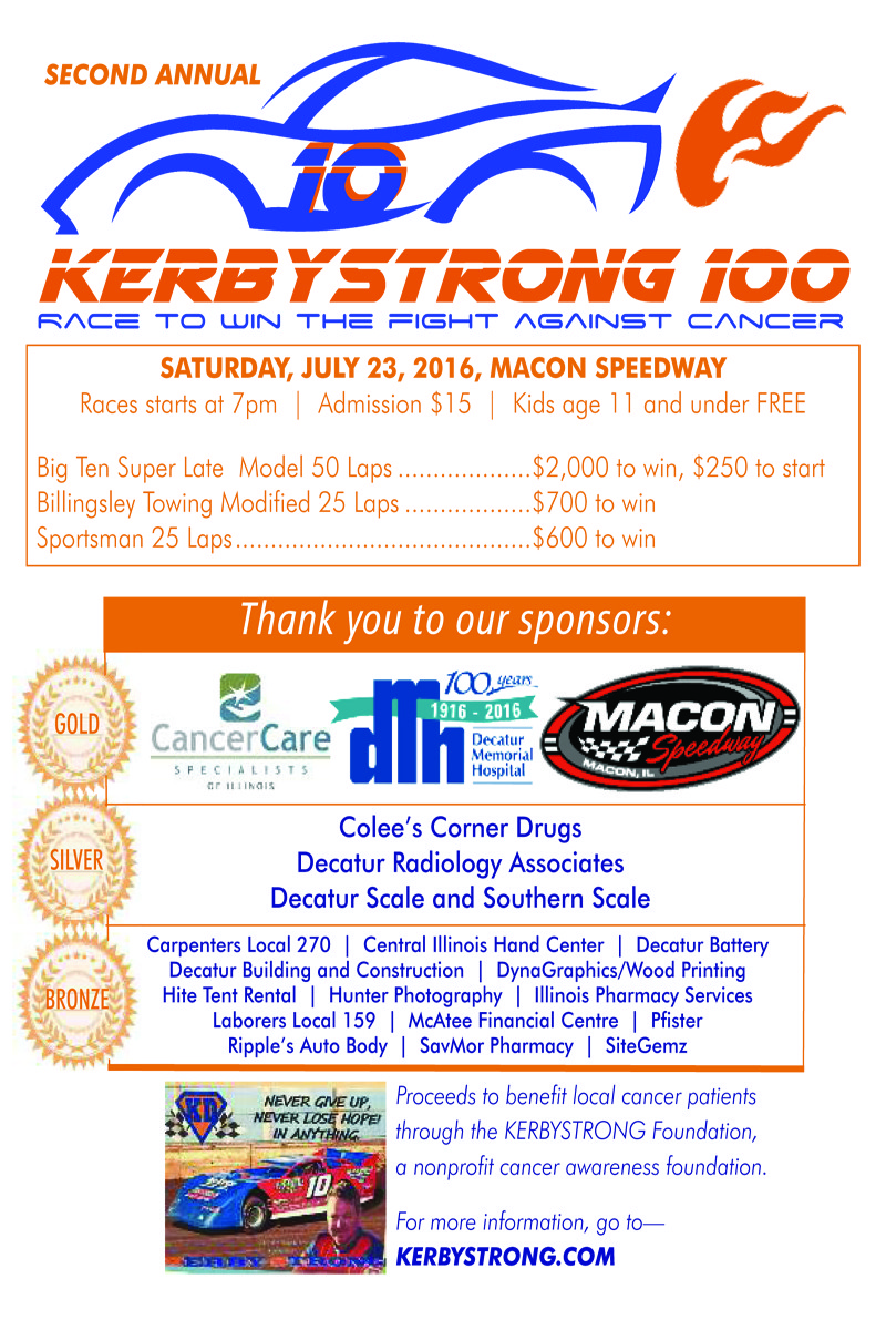 July 23rd Kerbystrong 100