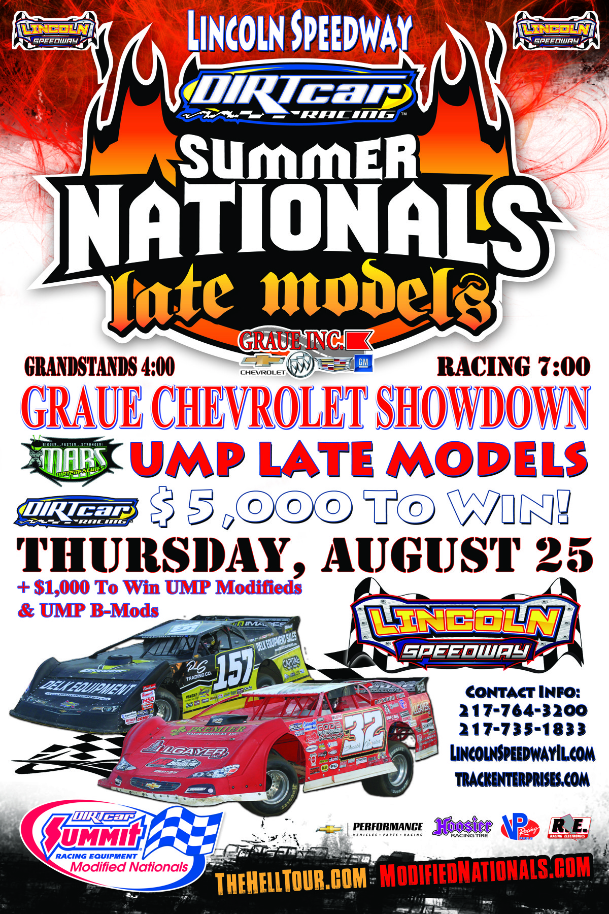 Graue Chevrolet Showdown August 25 Lincoln Speedway