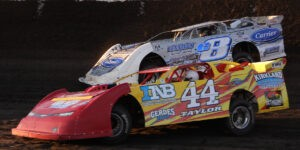 Super Late Models In Action At Macon Speedway