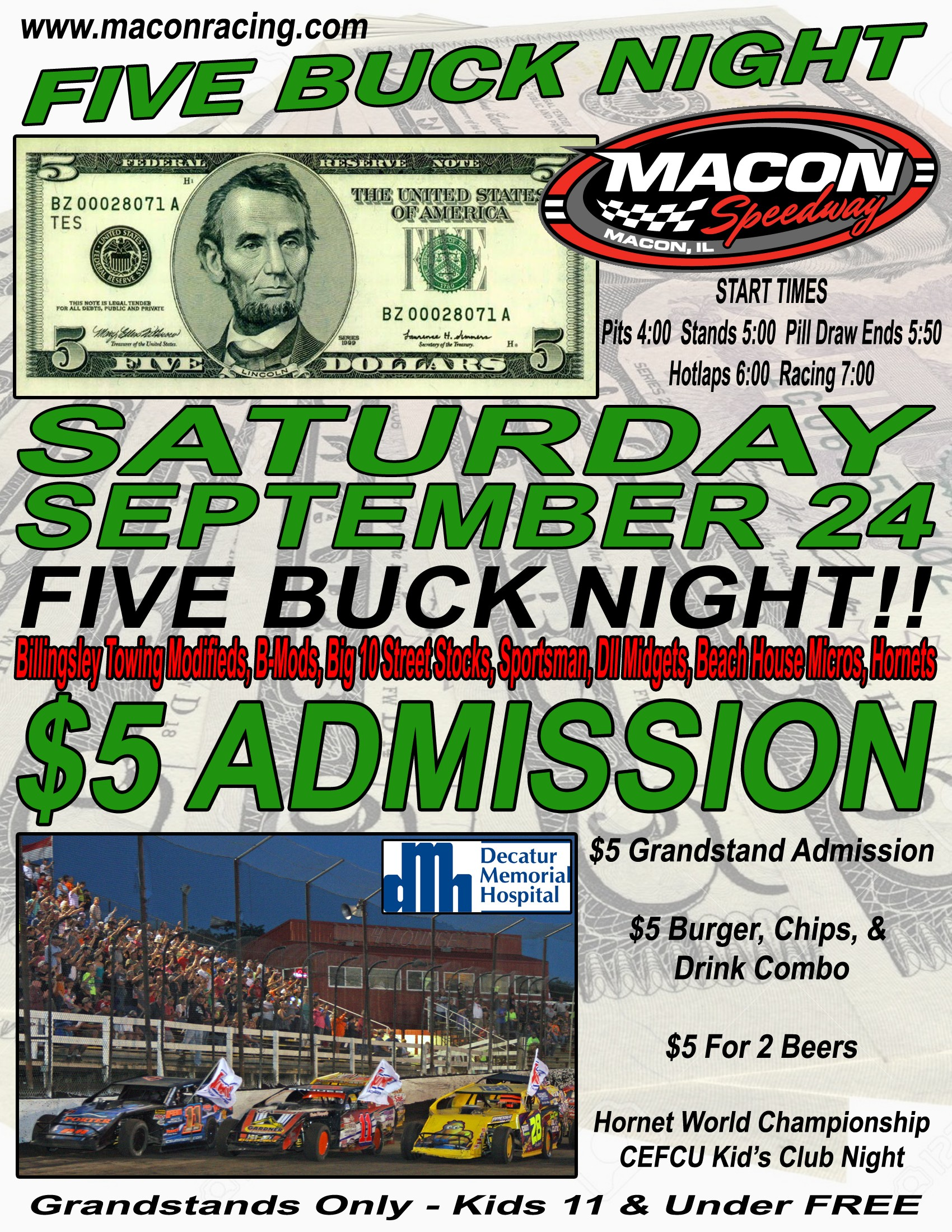 Five Buck Night September 24