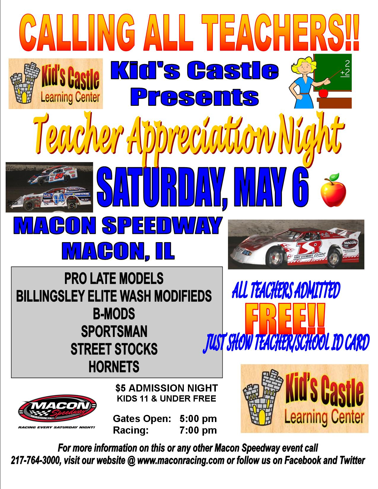 Kid's Castle Teachers Night 2017