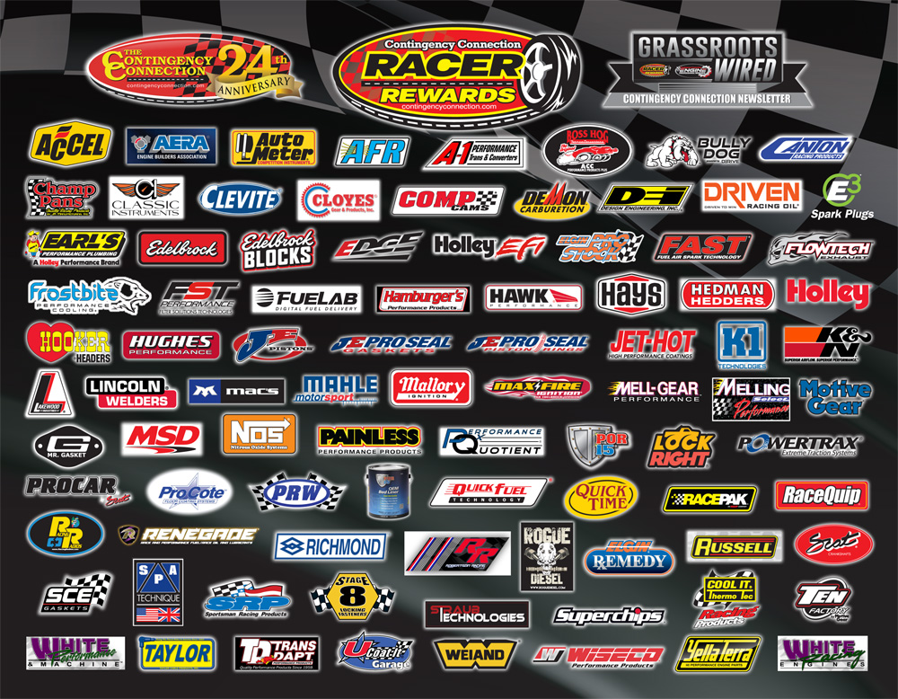 Racer Rewards Sponsors