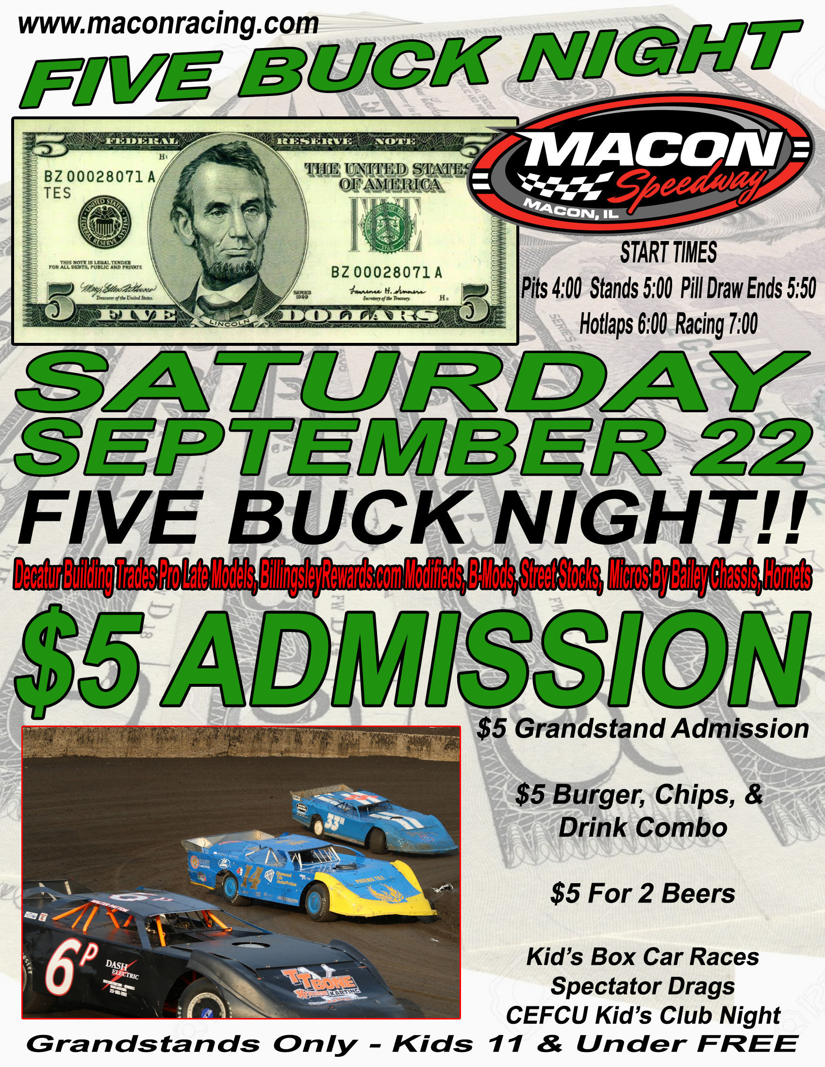 Five Buck Night Sept 22