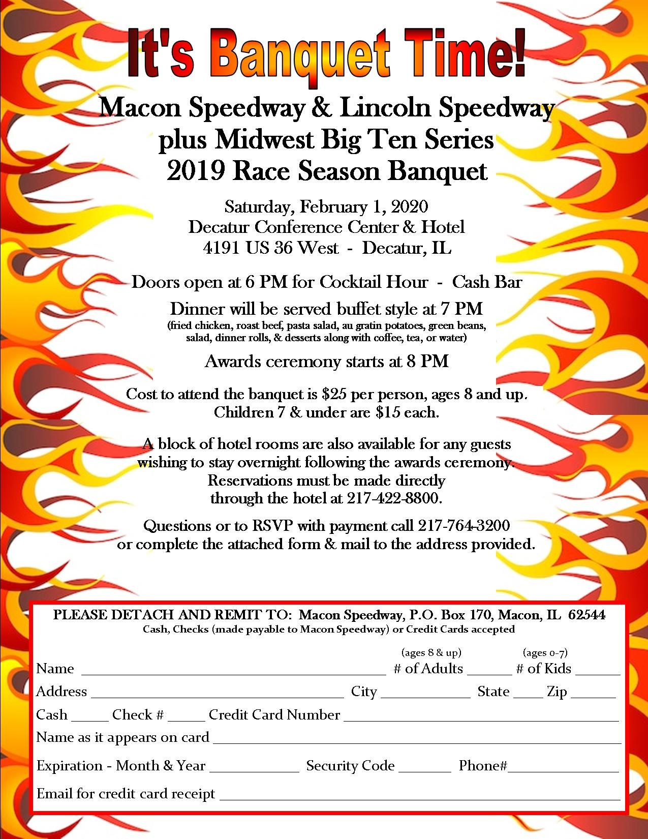 Awards Banquet Saturday, February 1